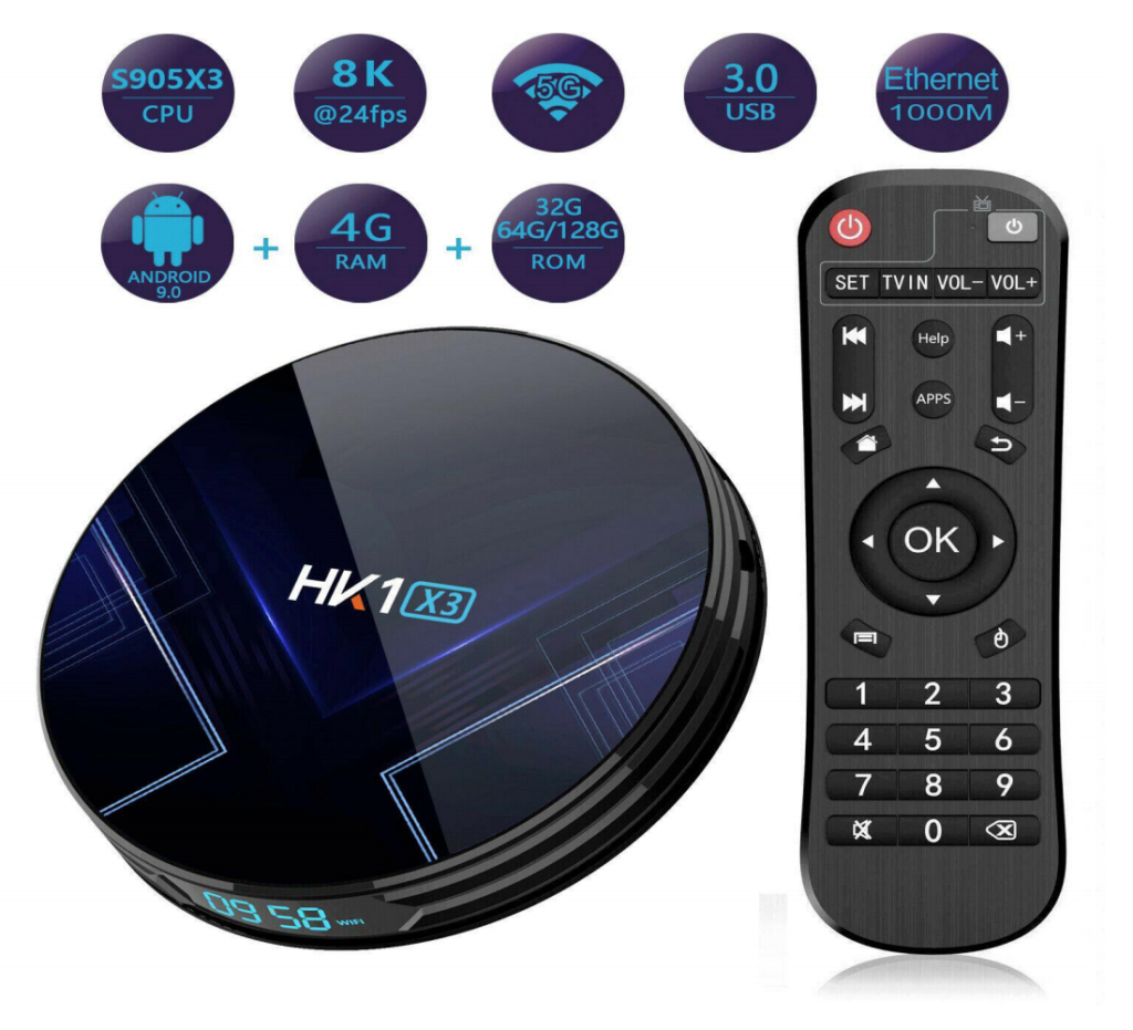 HK1 X3 Android TV Box